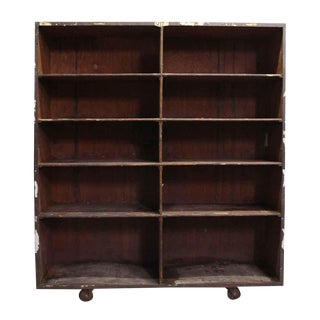 Wooden Storage Shelf Unit