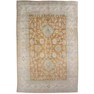 Aara Rugs Inc. Hand Knotted Fine Oushak Rug - 12′8″ × 15′10″