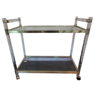 Charles Hollis Jones-Style Lucite Bar Cart