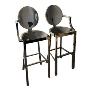 Phillipe Starck Replica Ghost Style Bar Stools - a Pair