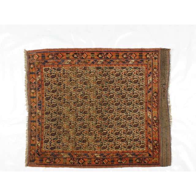 Antique Persian Afshar Carpet - 4' x 4'11'' - Image 3 of 4