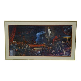 """Original Framed and Matted Print """"People of the World"""""""