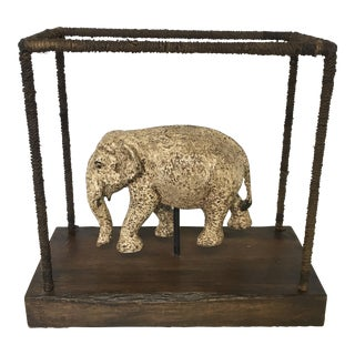 Boho Chic Elephant Statue on Stand