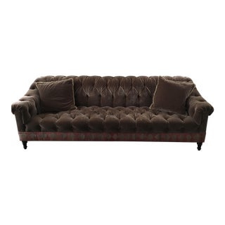 Brown Mohair & Kilm Sofa