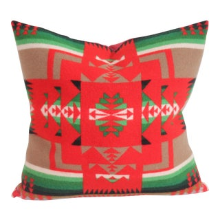 Red & Green Pendleton Pillow