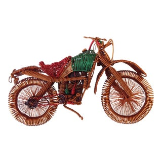 Vintage Copper Wire Motorcycle