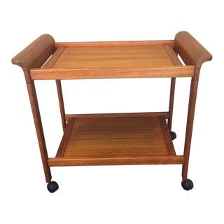 Mid-Century Modern Teak Tea Cart