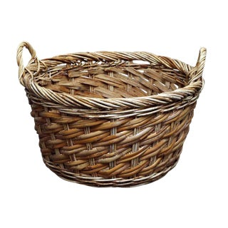 Straw Garden Fruit Basket