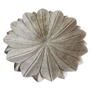 White Marble Lotus Bowl