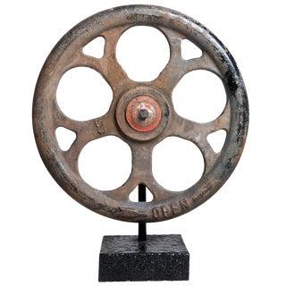 Vintage Iron Valve Sculpture