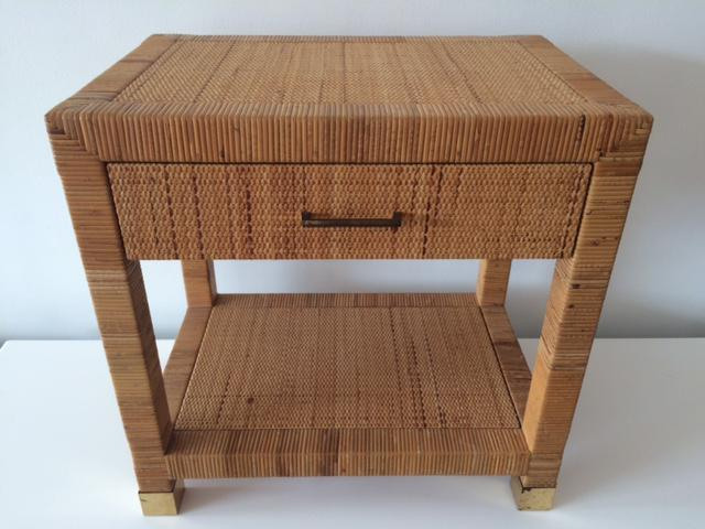 Vintage Bielecky Brothers Rattan Side Table   Image 3 Of 8
