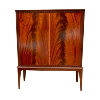 Swedish Moderne Cabinet in Flame Mahogany, 1940's