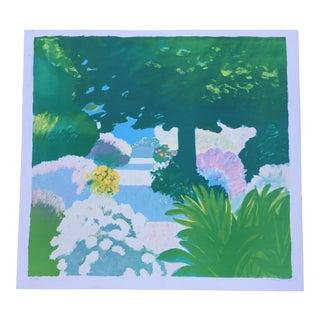 """Le Jardin"" Mediterranean Lithograph"