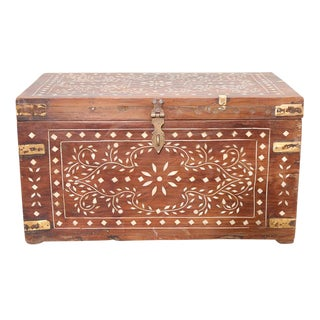 Brass Strap Inlaid Cash Box