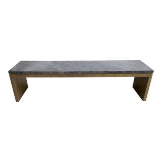 Marble & Wenge Wood Bench