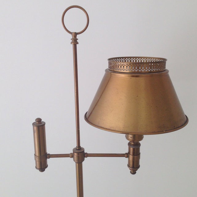 Brass Colored Tole Floor Lamp - Image 3 of 11