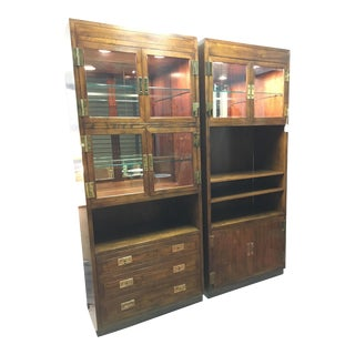 Vintage Henredon Display Cabinets- a Pair