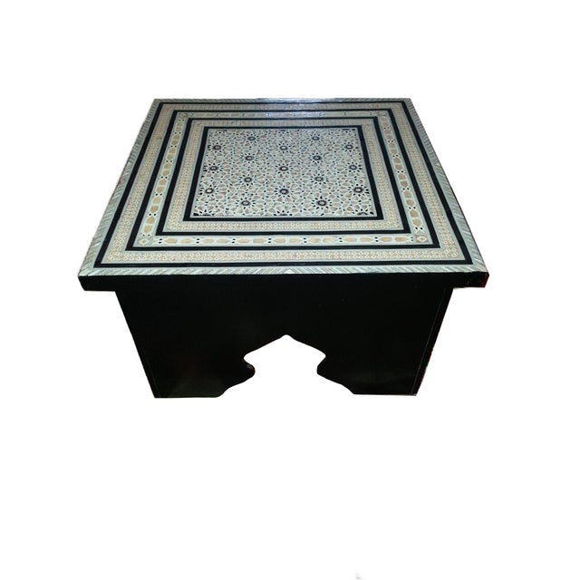 Moroccan Mother Of Pearl Coffee Table Chairish