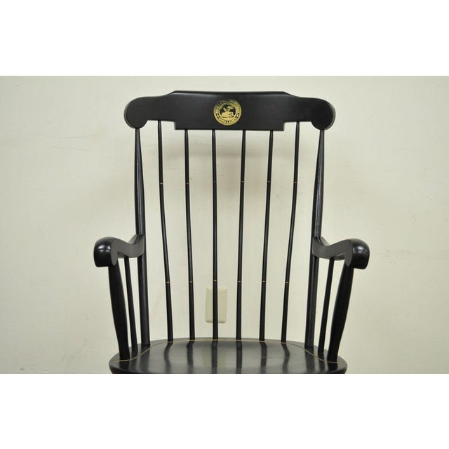 Vintage Sigill College University Nichols & Stone Windsor Rocking Chair - Image 3 of 11