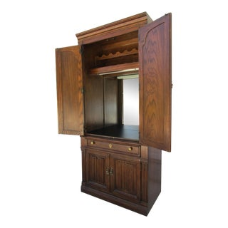 Drexel Lighted Bar Cabinet With Wine Rack