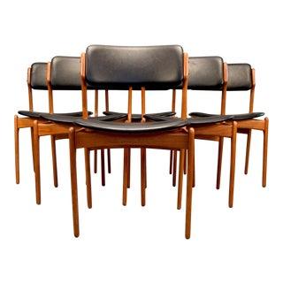 "On Hold - Erik Buck ""Floating Seat"" Teak Dining Chairs - Set of 6"