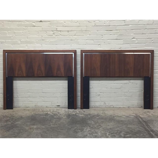 Dillingham Twin Headboards by Milo Baughman - Pair - Image 2 of 8
