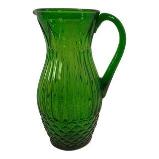 Mid-Century Modern Emerald Green Pitcher