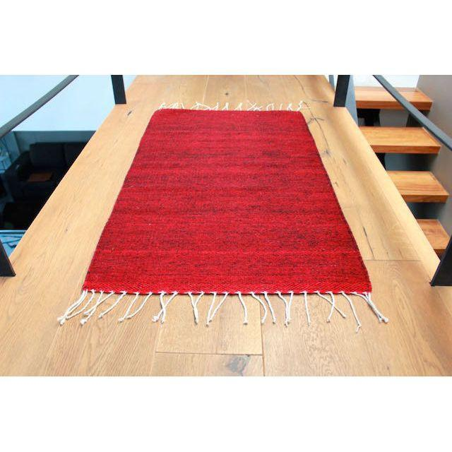"Red-Wine Mexican Wool Rug - 2' X 3'3"" - Image 2 of 4"