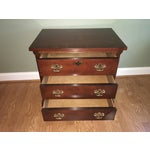 Image of Baker Chippendale Style Mahogany Night Stand
