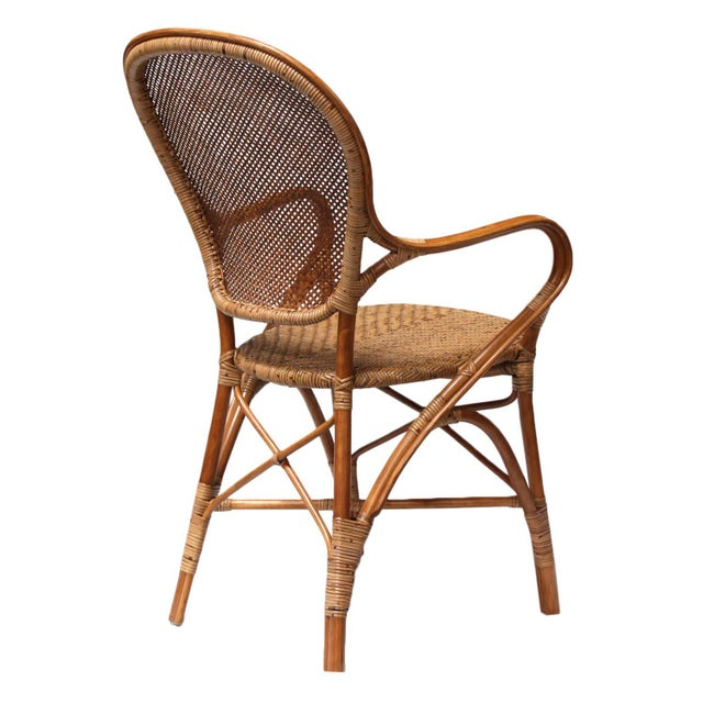 Rattan Bistro Dining Chairs - Set of 4 - Image 6 of 7