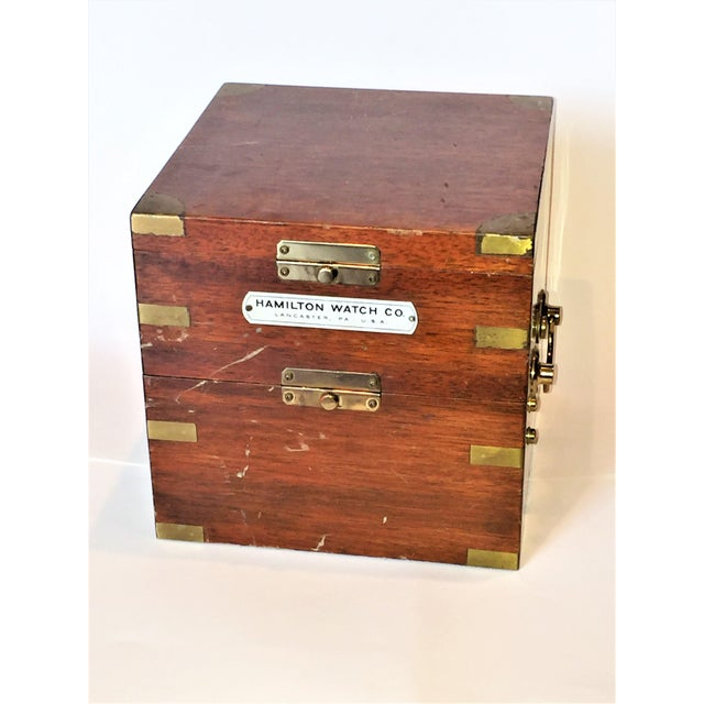 Vintage Marine Hamilton Chronometer Case - Image 7 of 9