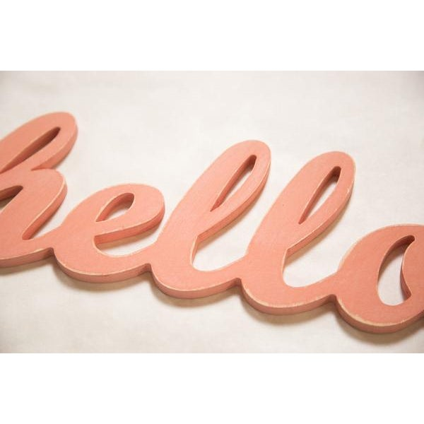 Contemporary Coral Hello Sign - Image 3 of 3