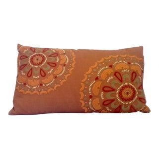 Vintage Linen Throw Pillow