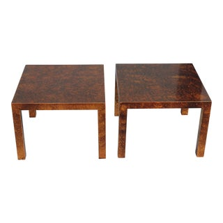 Lane Mid-Century Modern Tortoiseshell Tables - a Pair