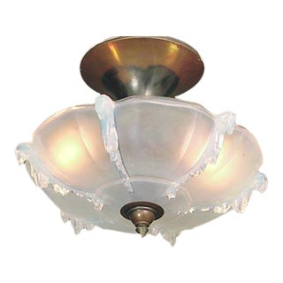 1940s French Opalescent Glass Fixture