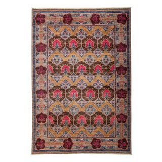"Arts & Crafts Hand Knotted Area Rug - 6'2"" X 8'10"""