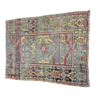 Antique Oushak Scatter Rug - 3′4″ × 4′7″