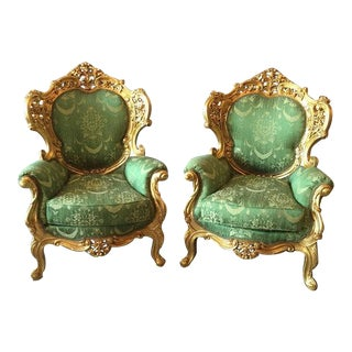 Classic Baroque Style Chairs - Pair