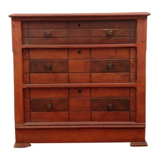 Arts & Craft Style 3 Drawer Carved Maple Dresser