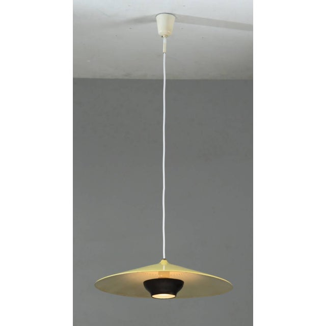 Early Gaetano Sciolari pendant in yellow and dark brass. Stilnovo, Italy, 1950s - Image 2 of 8