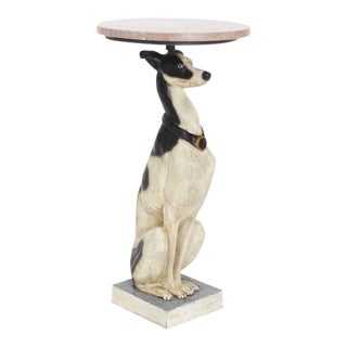 Pair of 20th Century Painted Iron Whippet Hound Tables