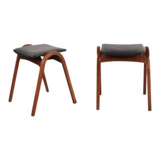 Pair Of Stacking Stools by Isamu Kenmochi for Tendo, Japan 1958