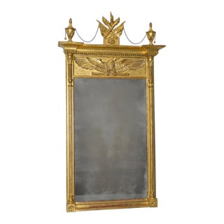 Late 19th to Early 20th C. Caved & Gilded French Pier Mirror