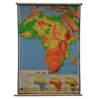 Vintage School Map of Africa