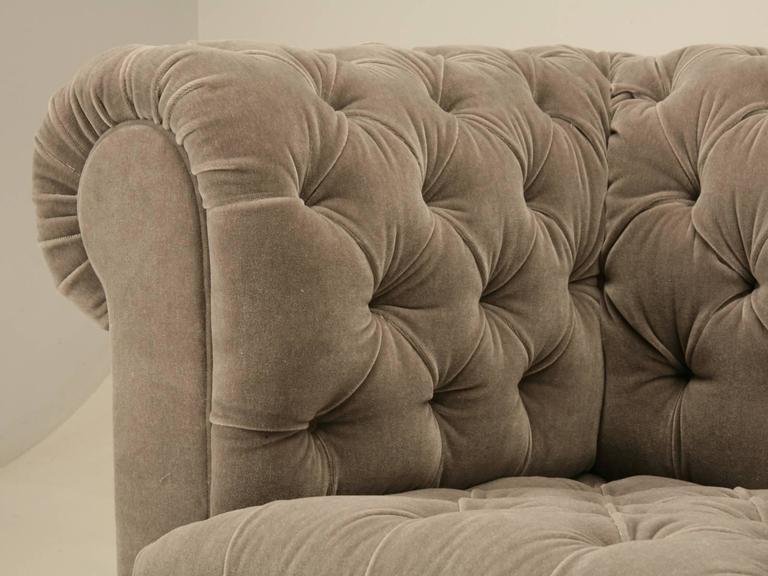 Chesterfield Sofa in Mohair With Solid Bronze Feet Chairish