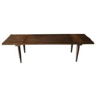 Custom Mid-Century Style Slat Bench