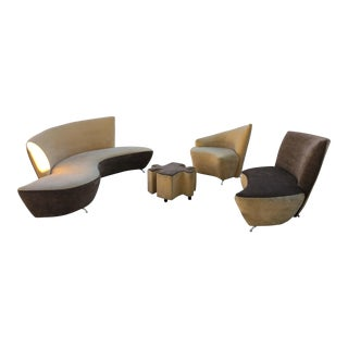 Vladimir Kagan Style Sofa Set - Set of 4