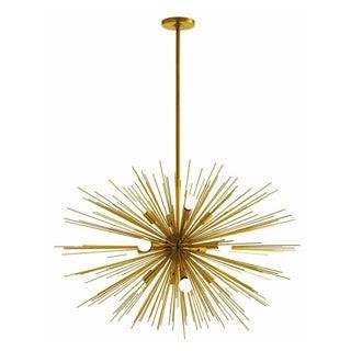 40 W Starburst 12 Light Antique Brass Chandelier