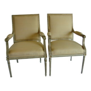 Vintage Italian Regency Style Arm Chairs - a Pair