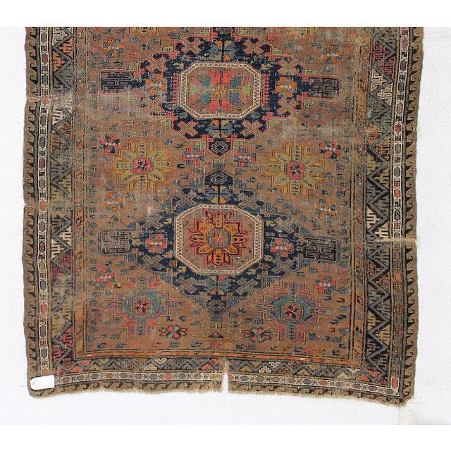 Antique Persian Sumak Kilim Rug- 5′ × 7′2″ - Image 5 of 6